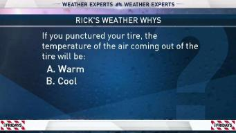 Weather Quiz: Air From Punctured Tire