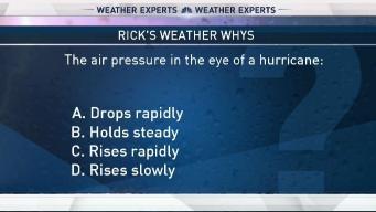 Weather Quiz: Air Pressure in Hurricane's Eye