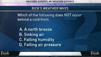 Weather Quiz: Behind a Cold Front