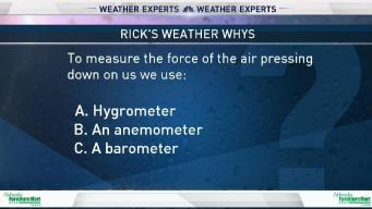 Weather Quiz: Device for Measuring Force of Air