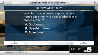 Weather Quiz Frost Formation