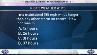 Weather Quiz: Irma's Historic Winds