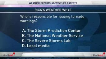 Weather Quiz: Issuing Tornado Warnings