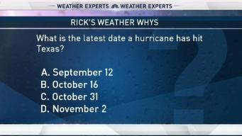 Weather Quiz: Latest Hurricane in Texas