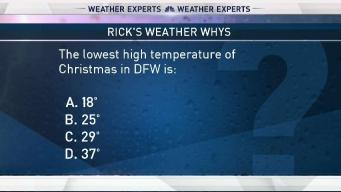 Weather Quiz: Lowest High on Christmas