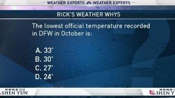Weather Quiz: Lowest October Temperature