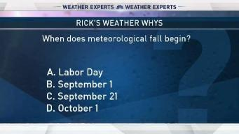 Weather Quiz: Meteorological Fall