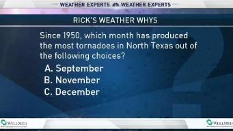 Weather Quiz: Most 'Off-Season' Tornadoes