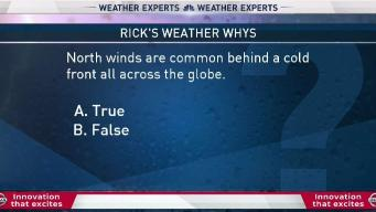 Weather Quiz: North Winds Behind Cold Front