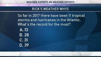 Weather Quiz: Record Atlantic Storm Season