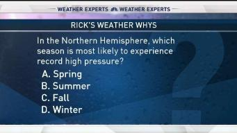 Weather Quiz: Season for Record High Pressure