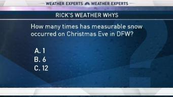 Weather Quiz: Snow on Christmas Eve