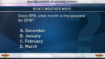 Weather Quiz: Snowiest Month for DFW