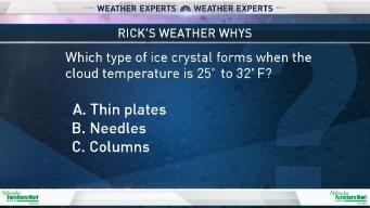 Weather Quiz: Types of Ice Crystals