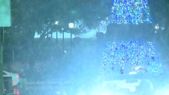 Raw Video: Snow Falls at Texas State Capitol in Austin