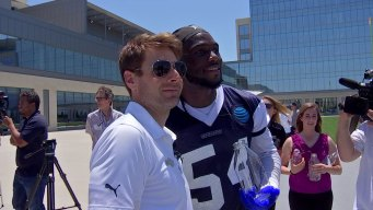 Indy 500 Champ Visits Cowboys Practice