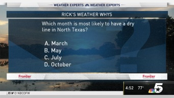 Weather Quiz: Most Likely Dry Month?