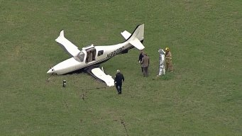 Gear Collapses When Plane Lands at Addison Airport