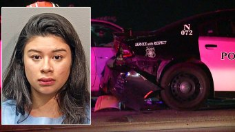 Woman Arrested for DWI After Crashing Into FWPD Car