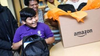 Amazon Donates School Supplies to 6 Schools in DFW Area