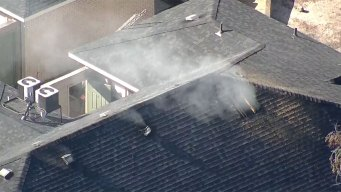 Arlington Firefighters Battle Apartment Fire