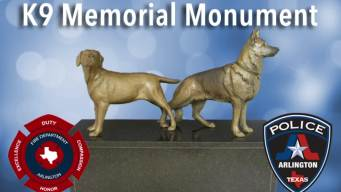 Arlington Fire, Police Hope For K9 Memorial Monument