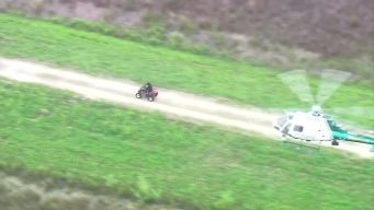 Wild High Speed Chase Of ATV