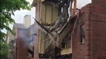 Balcony Collapses After Apartment Fire