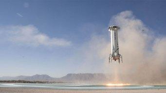 Blue Origin Shoots NASA Experiments to Space, Returns to TX