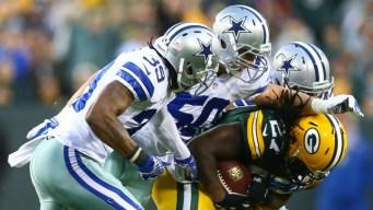 Cowboys Trail Packers at Half, 14-0