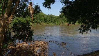 Swollen Rivers Feed Flooding Near Houston