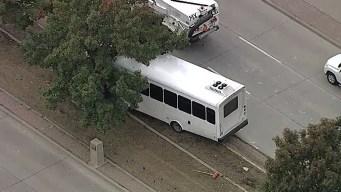 Bus Crashes into Tree at Dallas Love Field