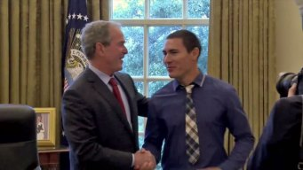 Bush Surprises Veterans at Bush Institute in Dallas