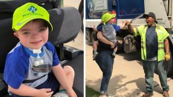 Boy, 3, Finds Friendship With Sanitation Worker