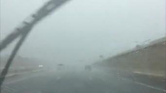 Heavy Rains Flood Galveston Streets on Labor Day