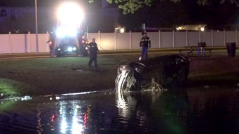 Car Plunges Into Pond During Chase Through Cedar Hill