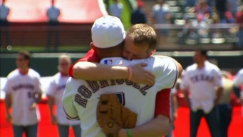 Emotional First Pitch at Opening Day