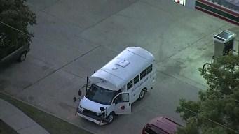 Raw: School Bus Involved in Crash in Dallas