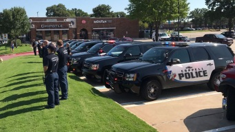 DFW Police Departments Show Support on Shooting Anniversary