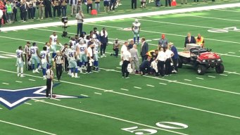 Cowboys DE Crawford Suffers Neck Injury, Carted Off Field
