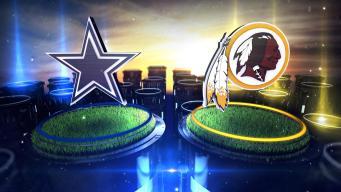 Cowboys Lead Redskins 27-10 at Half