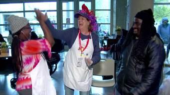 'Dancing Debbie' Serves Smiles, Food to Homeless in Dallas