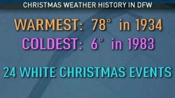 DFW Christmas Weather History