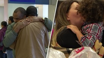 WATCH: Thanksgiving Homecomings, Hugs Abound at DFW Airport