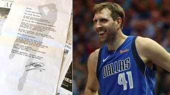 A Letter to Dallas From Dirk Nowitzki