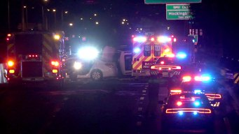 Fiery Wrong-Way Crash Closes DNT Early Monday Morning