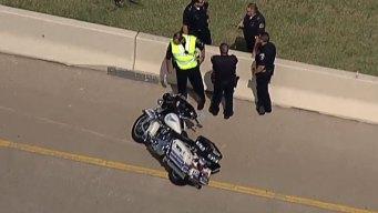 Dallas Motorcycle Cop Injured in Crash Along PGBT