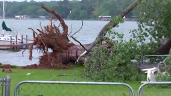 Strong Storm Hits Residents Near Eagle Mountain Lake