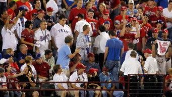 Rangers Fan Ejected for Throwing Ball