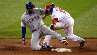 Andrus Has Big Night on Bases